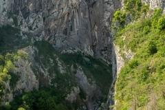 L'entrée des gorges sous le Point Sublime