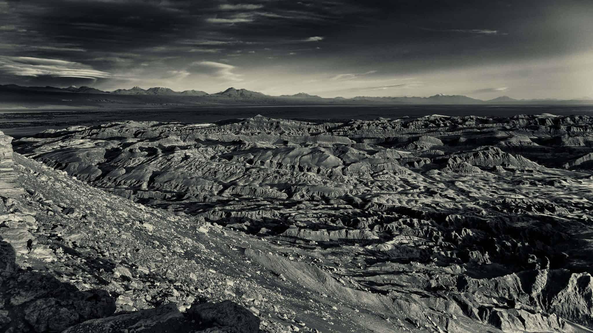 Vallée de la Lune aux portes du désert d'Atacama au Chili