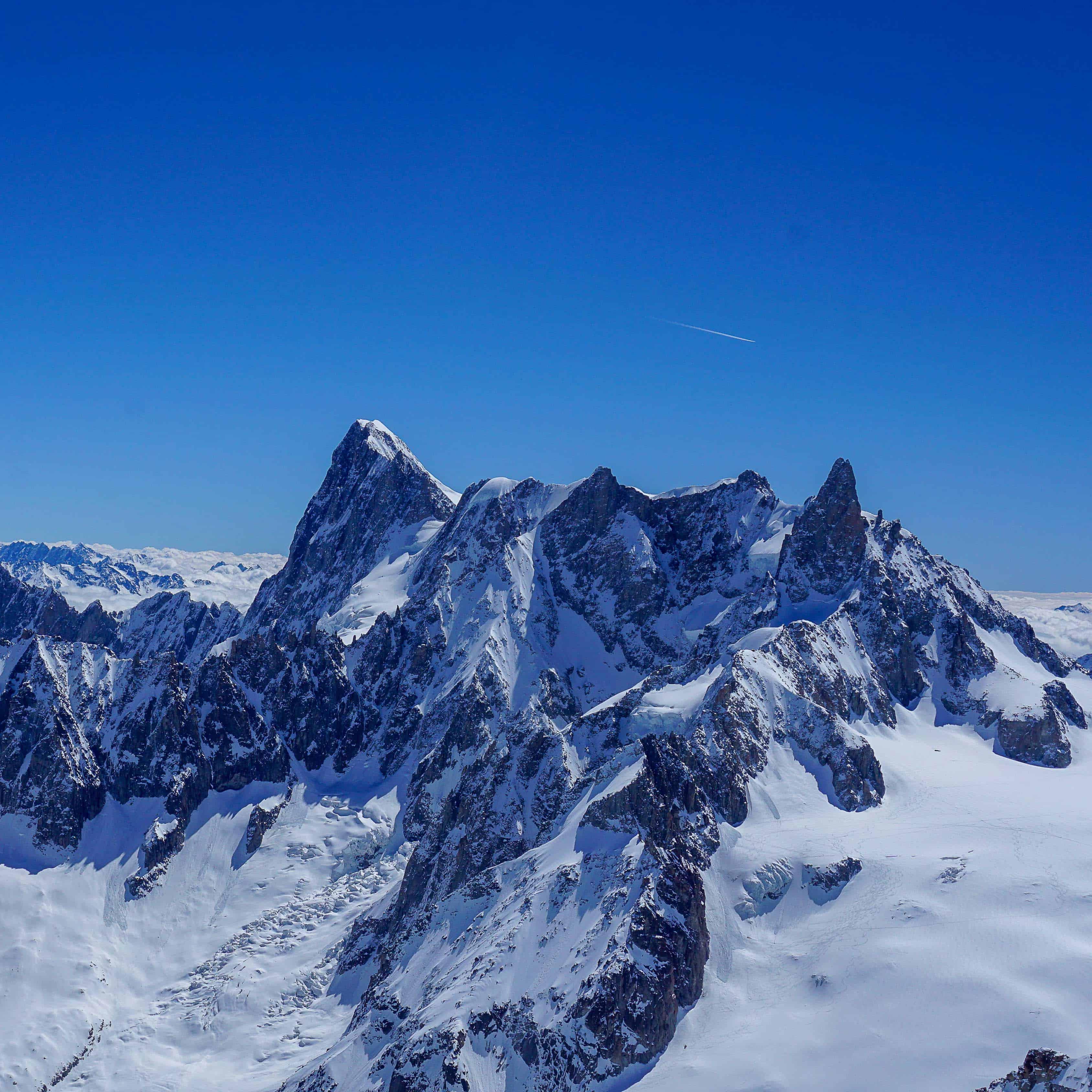 Periades et Grandes Jorasses dans le massif du Mont Blanc