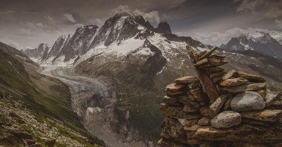 Glacier d'Argentière dans le massif du Mont Blanc