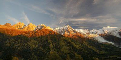 Coucher de soleil au pays du Mont Blanc