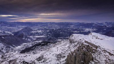 Montagne de Jouère dans les Alpes de Haute Provence
