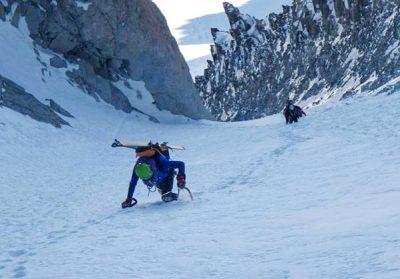 Couloir Jaeger dans le massif du Mont Blanc